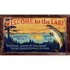 <strong>Vintage Signs</strong> Vintage Lake Sign