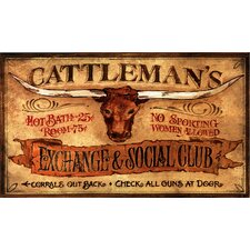 Cattleman's Vintage Advertisement Plaque