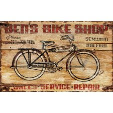 Bens Bike Vintage Advertisement Plaque