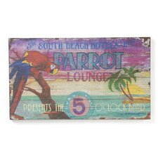 <strong>Vintage Signs</strong> Parrot Lounge Vintage Sign