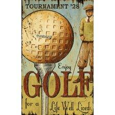 Enjoy Golf Vintage Advertisement Plaque