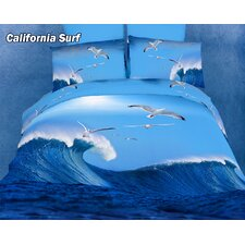 <strong>Dolce Mela</strong> California Surfing Egyptian Cotton Duvet Cover Set