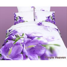 <strong>Dolce Mela</strong> Dolce Mela Purple Heaven 6 Piece Duvet Cover Set