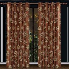 Dolce Mela Ceres Cotton Grommet Drape Curtain Single Panel
