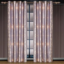 Dolce Mela Iris Cotton Grommet Drape Curtain Single Panel