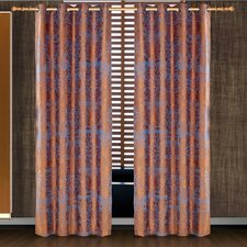 Dolce Mela Hathor Cotton Grommet Drape Curtain Single Panel