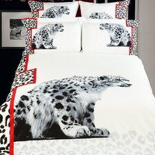 <strong>Dolce Mela</strong> White Cheetahs Duvet Cover Set