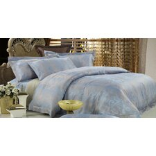 <strong>Dolce Mela</strong> Dolce Mela Fountain Blue 6 Piece Duvet Cover Set