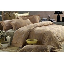 <strong>Dolce Mela</strong> Dolce Mela Golden Age 6 Piece Duvet Cover Set