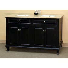 "<strong>Bellaterra Home</strong> Lewis 62"" Double Vanity Set"