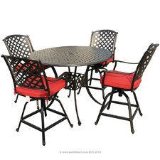 Bordeaux 5 Piece Counter Height Dining Set