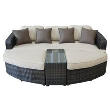 All Weather 4 Piece Lounge Seating Group with Cushions