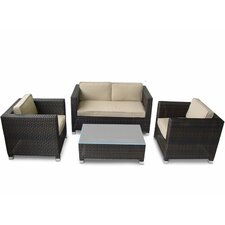 <strong>Kontiki</strong> 4 Piece Deep Seating Group with Cushions