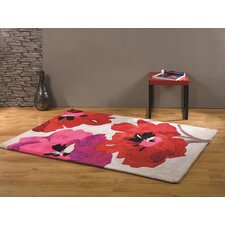 Infinite Seasons Red Tufted Rug