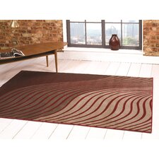 Sincerity Modern Beige / Red Rug