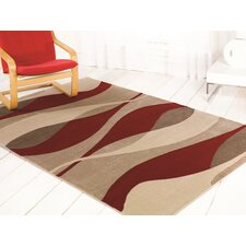 Sincerity Modern Red Rug