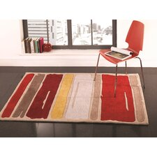 Infinite Mod Art Orange Tufted Rug