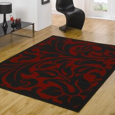 Element Warwick Red / Black  Contemporary Rug