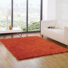 Spider Orange Shag Rug