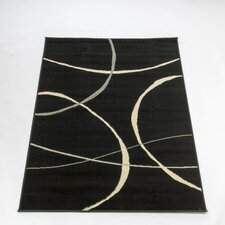 Retro Classics Black Contemporary Rug