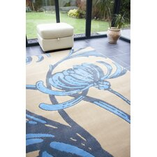 Retro Classics Loretta Beige / Blue Contemporary Rug