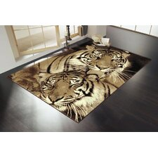 <strong>Home Essence</strong> Wildlife Tigers Brown Novelty Rug