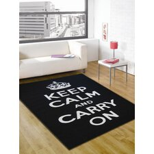 Matrix Themes Black/White Carry On Rug