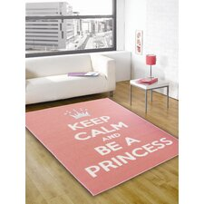 Matrix Themes Pink/White Children's Rug
