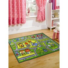 Matrix Kiddy Happy Town Multi Children's Rug