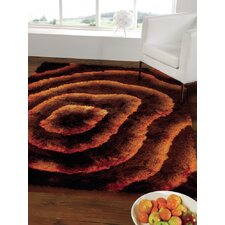 Splendour Deluxe Brown/Orange Allure Shag Rug