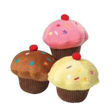 Vanilla Scented Cupcake Dog Toy