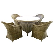 Modena 5 Piece Round Dining Set