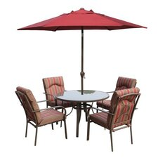 Amalfi 6 Piece Round Dining Set