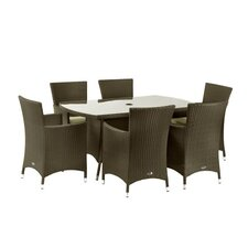 Cannes 7 Piece Rectangle Dining Set