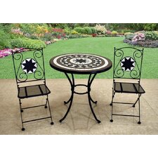 Rimini 3 Piece Round Dining Set