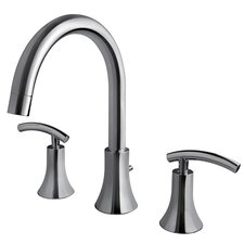 Contemporary Two Handle Deck Mount Roman Tub Faucet