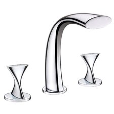 Twist Two Handle Deck Mount Roman Tub Faucet