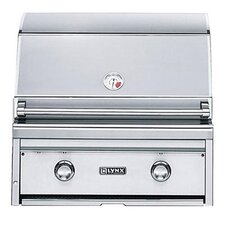 "27"" Built-In Gas Grill with Two Cast Brass Burner"