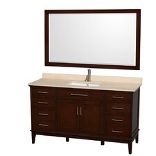 "<strong>Wyndham Collection</strong> Hatton 60"" Single Bathroom Vanity Set"