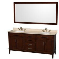 "Hatton 72"" Double Bathroom Vanity Set"