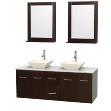 """Centra 60"""" Bathroom Vanity Set with Double Sink"""