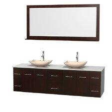 """Centra 80"""" Double Bathroom Vanity Set"""