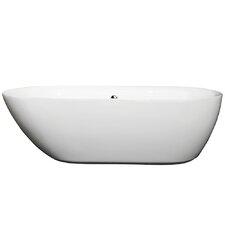 "Melissa Center Drain 70.75"" x 32.5"" Soaking Bathtub"