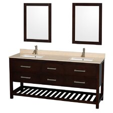 "Natalie 72"" Double Bathroom Vanity Set"