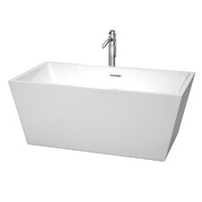 "Sara Center Drain 59"" x 31.5"" Soaking Bathtub"
