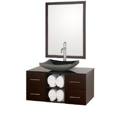 "<strong>Wyndham Collection</strong> Abba 36"" Wall-Mounted Bathroom Vanity Set"