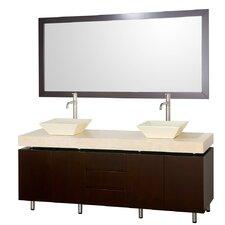 """Malibu 72"""" Double Bathroom Vanity Set"""