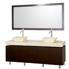 <strong>Wyndham Collection</strong> Malibu Double Bathroom Vanity Set