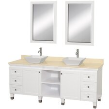 "<strong>Wyndham Collection</strong> Premiere 72"" Double Bathroom Vanity Set"