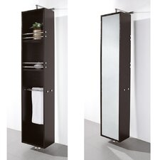 Claire Rotating Bathroom Cabinet in Espresso